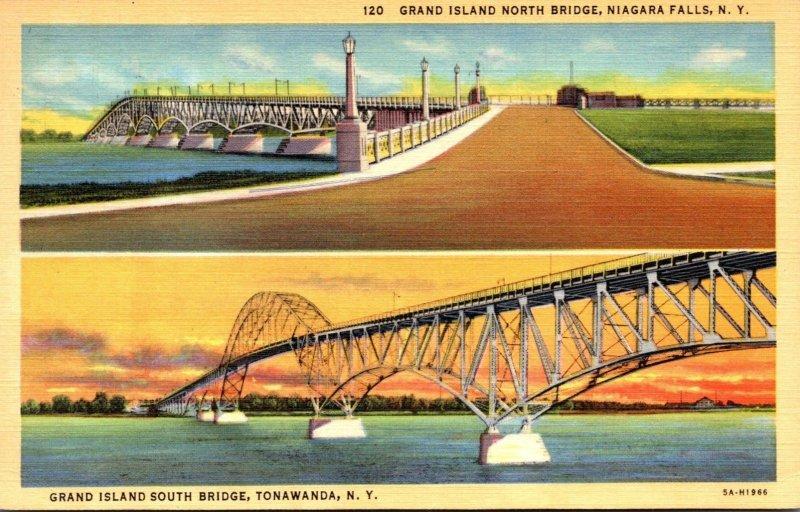 New York Towanda Grand Island South Bridge & North Bridge Niagara Falls 1945 ...
