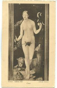 Firenze, Galleria Pitti, Eva, unused Postcard
