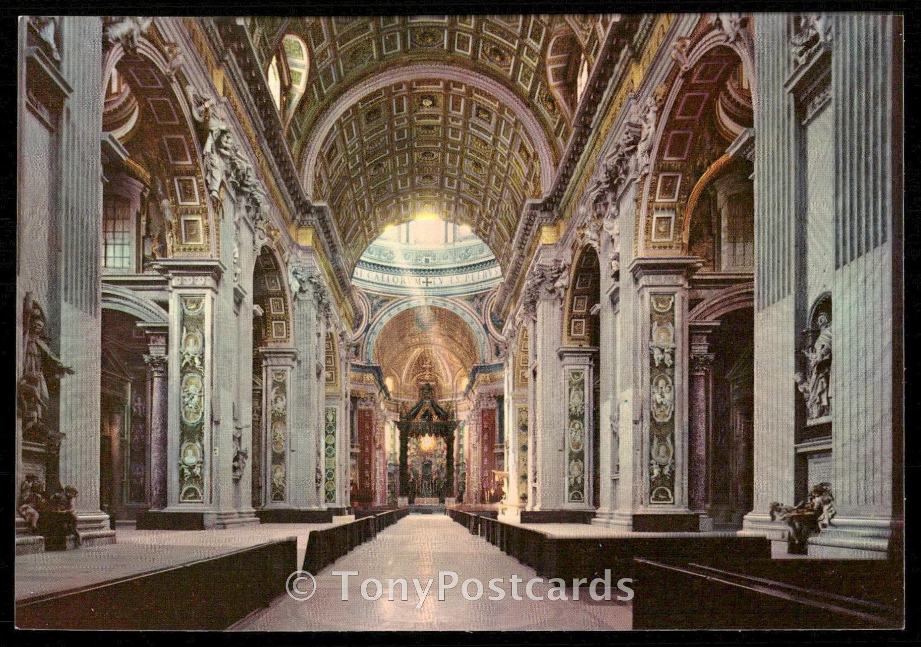citta del vaticano basilica s pietro interno