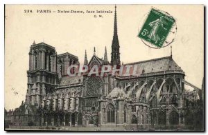 Postcard Old Paris Notre Dame Side face