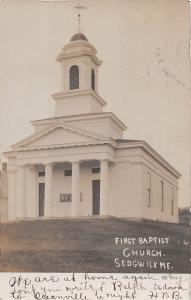 Maine Me Postcard Real Photo RPPC 1906 SEDGWICK First Baptist Church