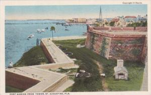 Florida St Augustine Fort Marion From The Tower Curteich