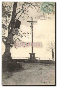 Old Postcard Honfleur Calvary of the Cote de Grace