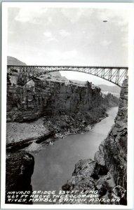 Marble Canyon, Arizona RPPC Photo Postcard NAVAJO BRIDGE Frasher c1940s Unused