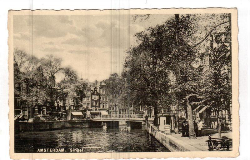 AMSTERDAM, Noord-Holland, Netherlands, 1930-1940's; Singel