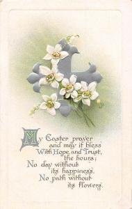 My Easter Prayer! Hope and Trust! Narcissus Flowers, Cross