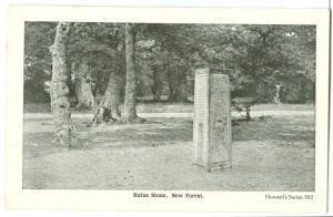 Rufus Stone, New Forest, early 1900s unused Postcard