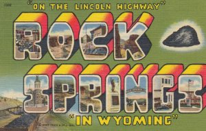 ROCK SPRINGS , Wyoming, 1930-40s ; Large Letter