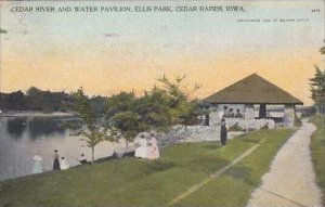 Iowa Cedar Rapids Cedar River And Water Pavilion Ellis Park