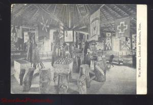 LOOKOUT MOUNTAIN CHATTANOOGA TENNESSEE CIVIL WAR MUSEUM INTERIOR POSTCARD