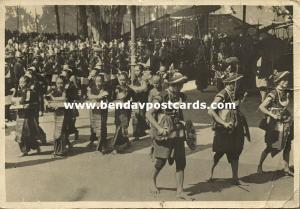 indonesia, Procession with Natives from Nias (1948) Sent from Tanjung Pandan