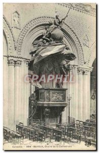 Old Postcard Bayeux Cathedral Interior The pulpit