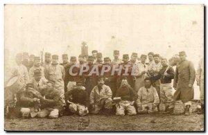 Old Postcard PHOTO CARD Army Regiment Saint Medard en Jalles TOP