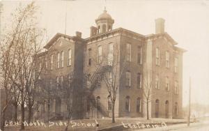 E70/ Leetonia Ohio RPPC Postcard Columbiana Co 1914 North Side School Leiter