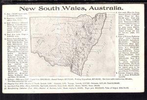 Map New South Wales,Australia