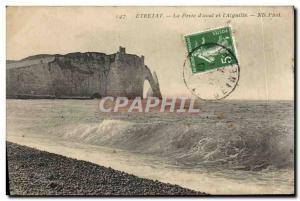Old Postcard Etretat La Porte d & # 39Aval and L & # 39Aiguille