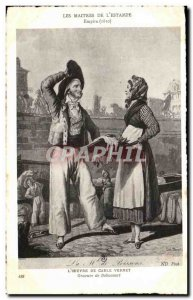 Old Postcard The Work Of Carle Vernet Engraving Debucourt