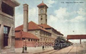Union Depot, Portland, OR, Oregon, USA Train Railroad Station Depot Post Card...