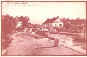 Delaware and Hudson Canal Post Card Old Vintage Antique Depuy Canal House, Hi...