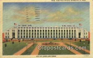 Minneapolis, MN USA,  Post Office Postcard, Postoffice Post Card Old Vintage ...