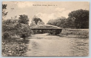 Morris New York~Broad Street Camelback Truss Bridge~1911 B&W Postcard