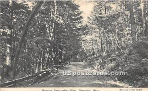 Mountain Road Looking West Greenfield MA 1909