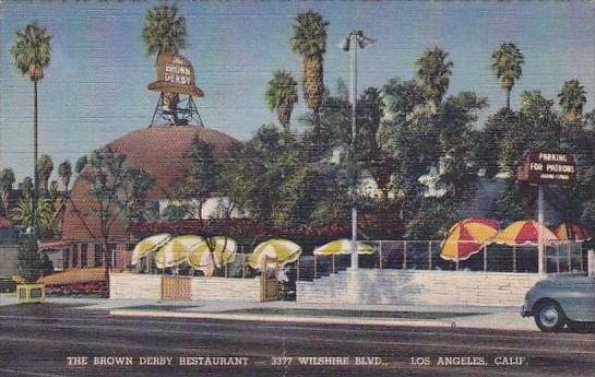 California Los Angeles The Brown Derby Restaurant Wilshire Boulevard