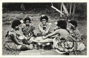 Women Preparing Yagona Fiji Unused Co-Operative No. 148 Postcard E59