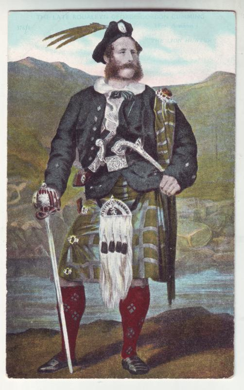 P935 scottish old card the late roualeyn george gordon cumming the lion hunter