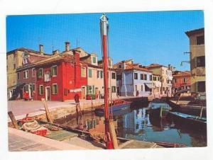 BURANO, Rio Terranova, Residential Area, Riverside, Gandolas, Italy, 40-60s