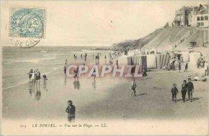 Old Postcard Le Portel View The Beach