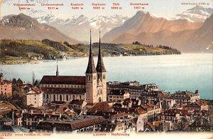 Liedernenstock Rosstock Rophaion Switzerland 1907 Missing Stamp