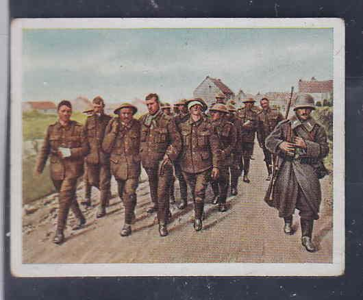 GERMANY TOBACCO CARD WWI 6x5 cms. SOLDIERS AAD5175