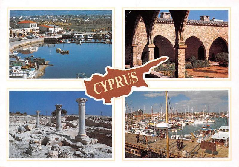 Cyprus Paphos Marina Larnaca Curium Harbour Boats General view