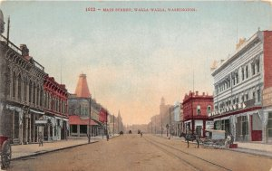 G33/ Walla Walla Washington Postcard c1910 Main Street Stores