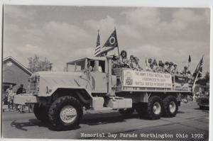 Ohio Real Photo RPPC Postcard Columbus 1992 MEMORIAL DAY PARADE Desert Storm 7