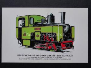 SNOWDON MOUNTAIN RAILWAY 0-4-2 RACK TANK Steam Locomotive by Prescott c1970's