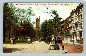 Philadelphia PA-Pennsylvania, Rittenhouse Square, Vintage c1910 Postcard