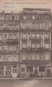 Strasbourg Du Rhin Hotel De French Ladies Hairdressers Coiffeur Antique Postcard