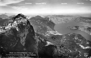 Blick vom Schafberg mit Himmelspfortehuette St. Wolfgang Berg Mountain