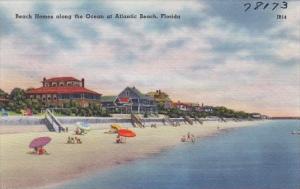 Florida Atlantic Beach Homes Along The Ocean Atlantic Beach