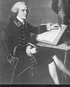 Postcard  Portrait of John Hancock, by J.S. Copley, Museum of Arts, Boston, MA.