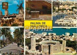 Postcard Modern Palma Mallorca Various aspects