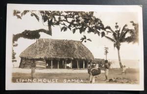 Mint American Samoa Real Picture Postcard RPPC Living House