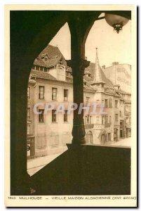 Old Postcard Mulhouse Old house Alsatian XVI century
