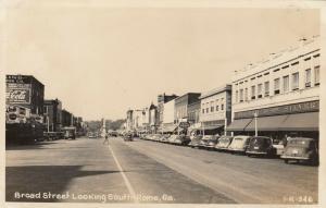 RP; ROME , Georgia , 1930-40s ; Broad Street , Looking South