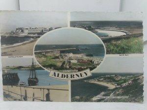 Vtg Rp Multiview Postcard Saye Bay Corblets Clonque Fort Tourgis Alderney 1950s