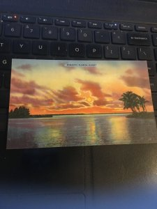 Vintage Postcard -  Romantic Florida Sunset