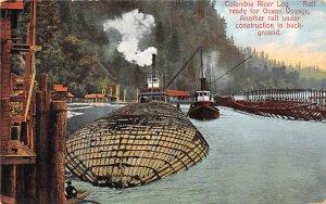 Logging Post Card Columbia River Log Postcard Unused