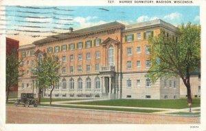 Postcard Nurses Dormitory Madison Wisconsin